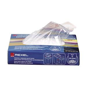 Rexel AS100 Plastic Waste Bags for Small Office Shredders 40L (100) paper shredder accessory