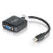 C2G 20cm Mini DisplayPort M / VGA F 0,2 m VGA (D-Sub) Negro
