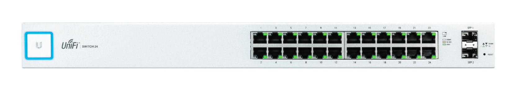 Ubiquiti Networks UniFi US-24 Managed Gigabit Ethernet (10/100/1000) 1U Silver,White network switch