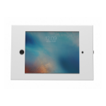 Maclocks K/Adjustable Floor Stand Secure Kiosk Tablet White