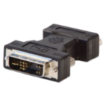 Lindy 71244 cable interface/gender adapter DVI-A VGA Black