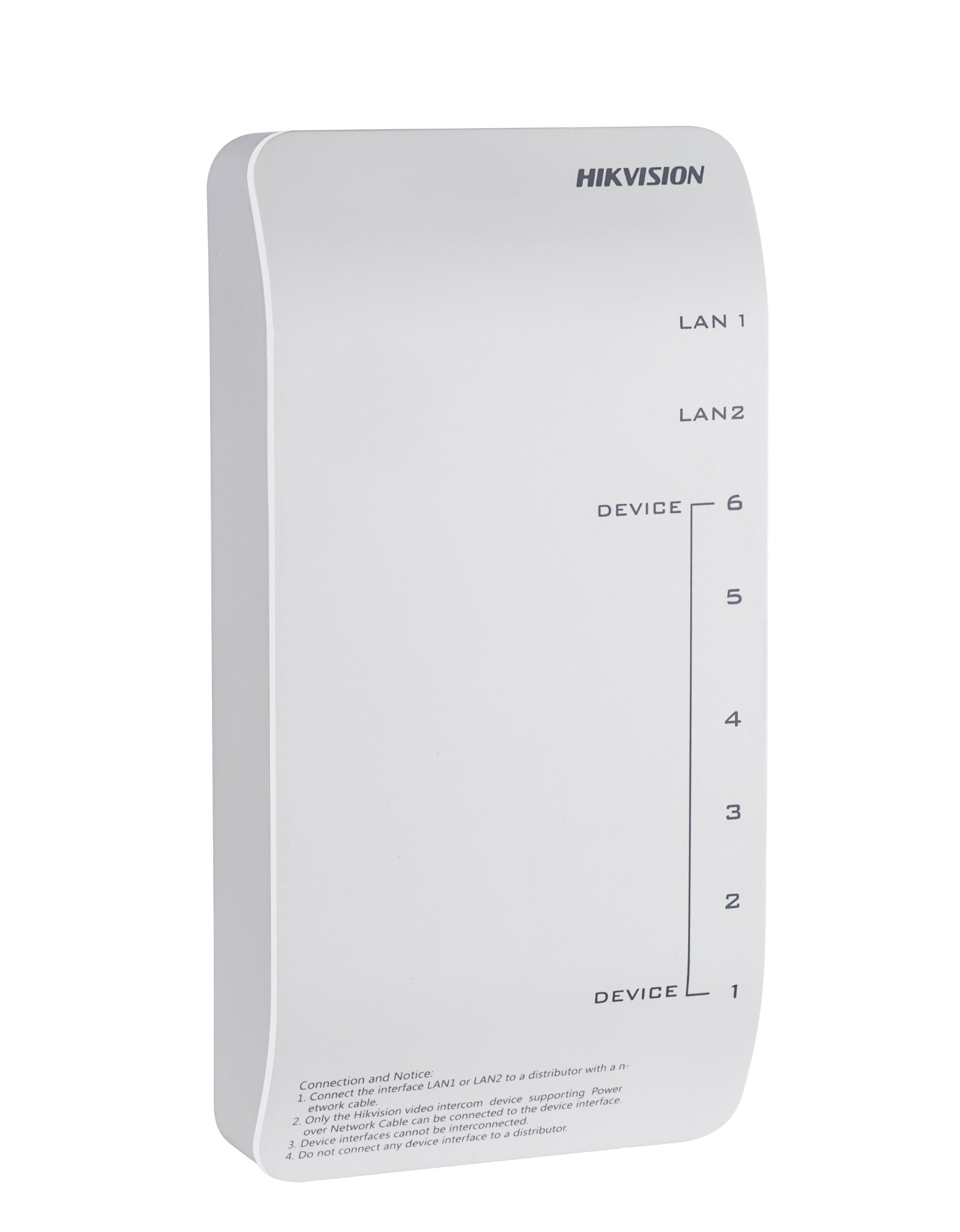 Hikvision Digital Technology 8 RJ-45 interfaces/including 6 adaptive10/100 Mbps LAN interfaces supporting network cable powering