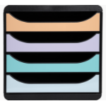 Exacompta 3104296D file storage box Plastic Beige, Black, Green, Grey, Pink