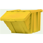 VFM Yellow Heavy Duty Storage Bin With Lid 359521