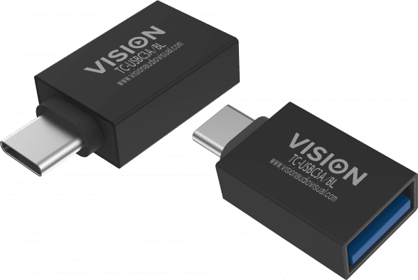 Vision TC-USBC3A/BL adaptador de cable USB C USB 3.0 A Negro