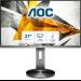 """AOC I2790PQU/BT computer monitor 68.6 cm (27"""") 1920 x 1080 pixels Full HD LED Grey"""