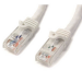 StarTech.com Cat6 patch cable with snagless RJ45 connectors – 25 ft, white