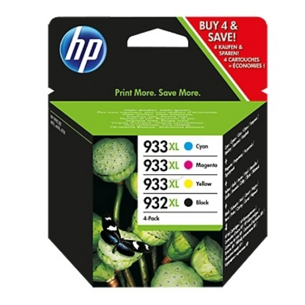 HP C2P42AE#301 (932XL933XL) Ink cartridge multi pack, 1000 pg + 3x825pg, Pack qty 4