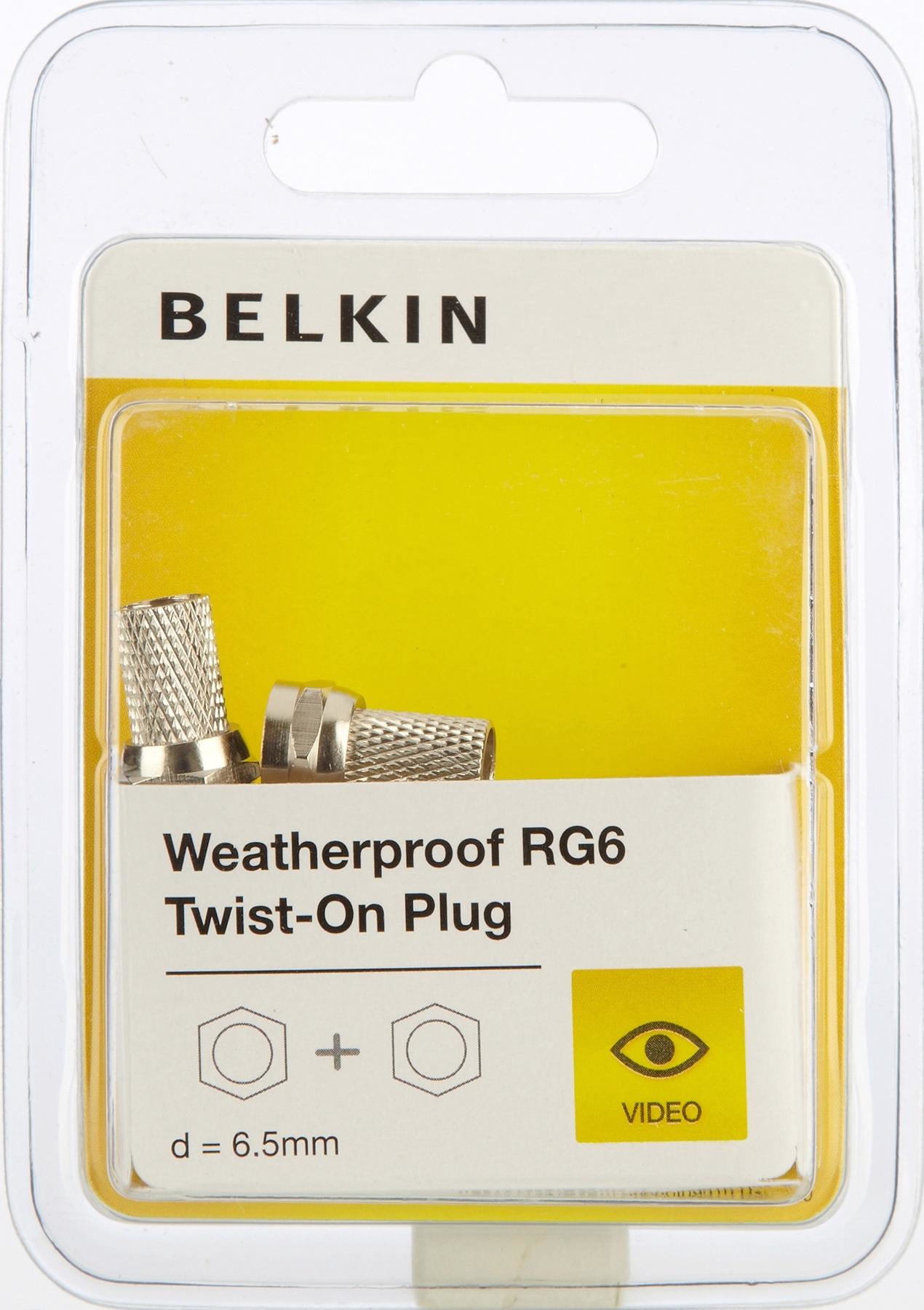 Belkin F3Y078BF coaxial connector
