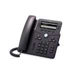 Cisco 6851 IP phone Black Wired handset 4 lines Wi-Fi