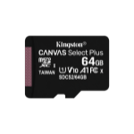 Kingston Technology Canvas Select Plus memory card 64 GB MicroSDXC Class 10 UHS-I SDCS2/64GBSP