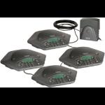 ClearOne MAXAttach + 2 Exp. Kits Telephone Black speakerphone
