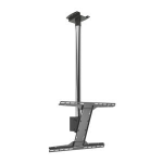 "Peerless MOD-FPSKIT150-CPF 75"" Chrome flat panel ceiling mount"
