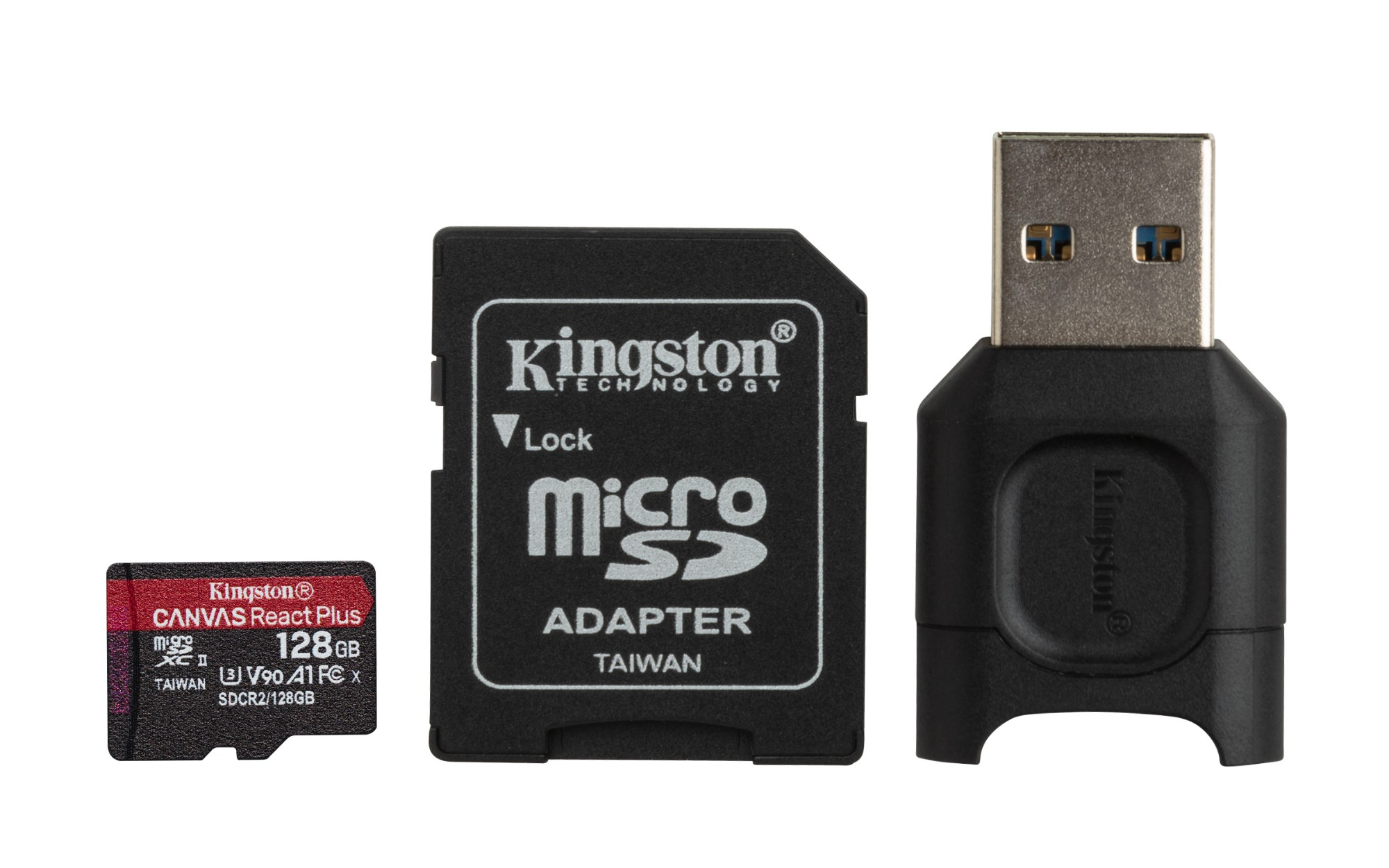 Kingston Technology Canvas React Plus memoria flash 128 GB MicroSD Clase 10 UHS-II