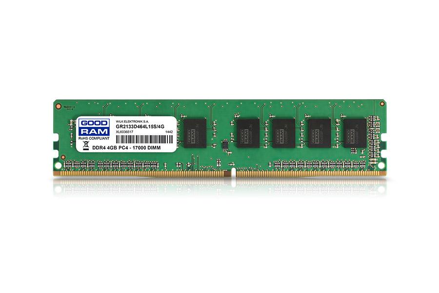 Goodram GR2400D464L17S/4G memory module 4 GB DDR4 2400 MHz