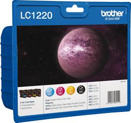 Brother LC-1220VALBP cartucho de tinta Original Negro, Cian, Magenta, Amarillo 4 pieza(s)