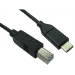 Cables Direct USB3C-871 USB cable 1 m 2.0 USB C USB B Black
