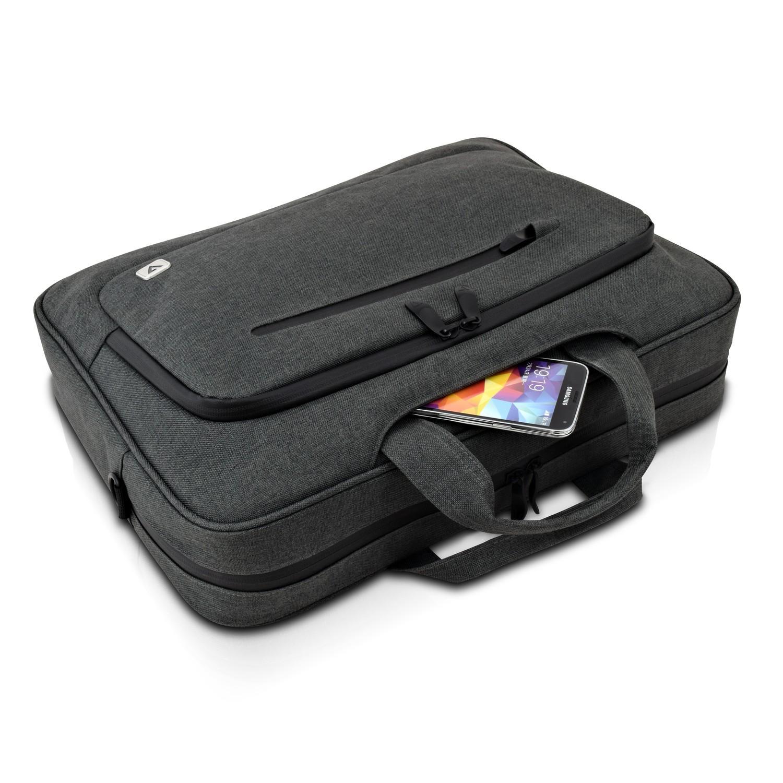 """V7 CTPX6-1E notebooktas 35.8 cm (14.1"""") Briefcase Grey"""