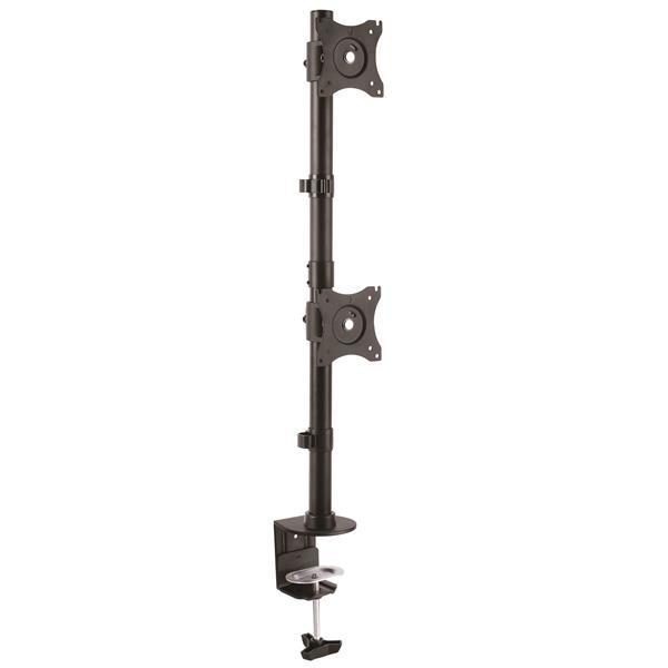 StarTech.com Base de Soporte Vertical VESA Ajustable para Dos Monitores de hasta 27 Pulgadas