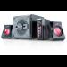 Genius SW-G2.1 1250 2.1channels 38W Black,Red speaker set