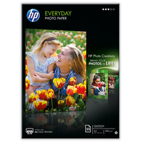 HP Q5451A photo paper Black,Blue,White Semi-gloss A4