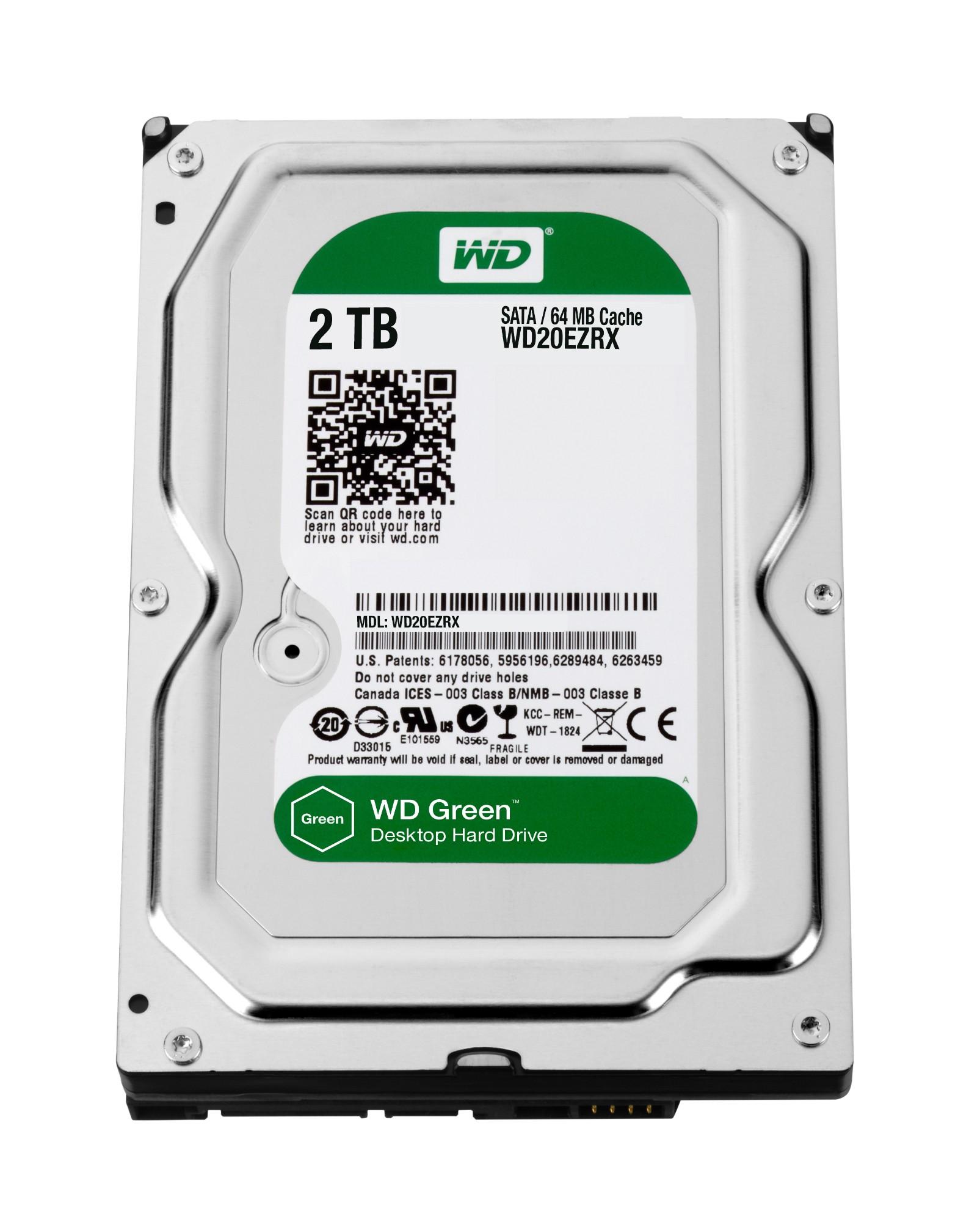 "Western Digital Caviar Green 2TB 3.5"" 2000 GB Serial ATA III"