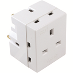CED ADAPTER 3 WAY FUSED 13AMP WHITE