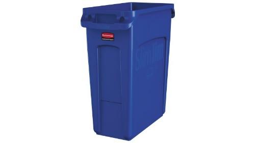 Rubbermaid 1971257 trash can 60 L Rectangular Resin Blue
