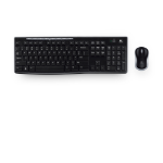 Logitech MK270 teclado RF inalámbrico QWERTY Portugués Negro
