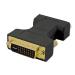 4XEM 4XDVIVGAMF cable interface/gender adapter DVI-D VGA Black