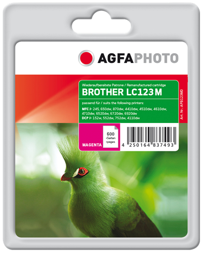 AgfaPhoto APB123MD 11ml 600pages Magenta ink cartridge