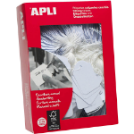 APLI 386 STRUNG TICKETS 13X34MM WHITE PACK 1000