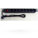 Microconnect CABINETACC23 8AC outlet(s) 1U Black power distribution unit (PDU)