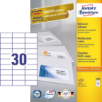 Avery 3489 self-adhesive label Rectangle Permanent White 3000 pc(s)