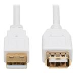 """Tripp Lite U024AB-006-WH USB cable 72"""" (1.83 m) USB 2.0 USB A White"""