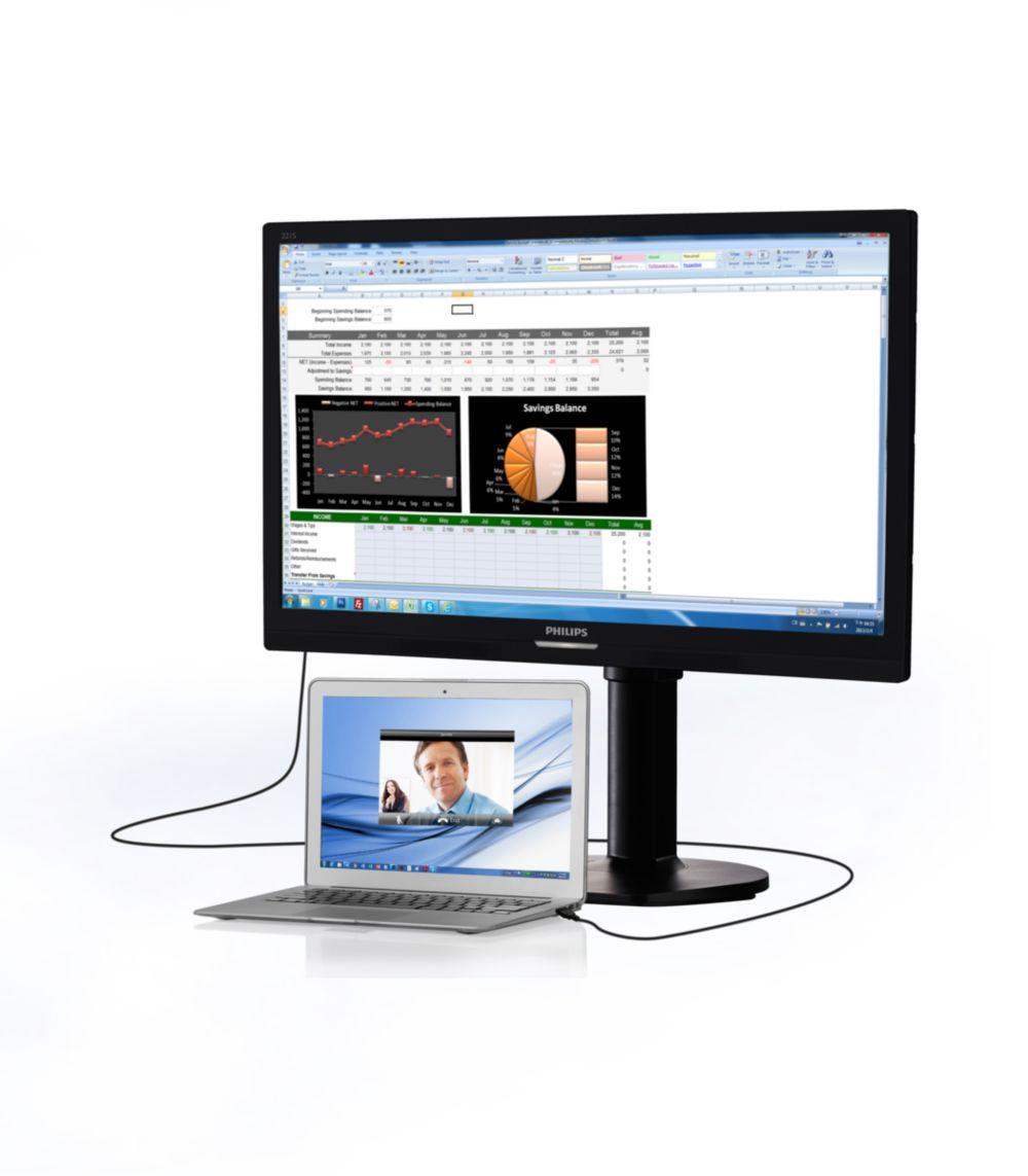Philips Brilliance USB-docking LCD monitor