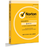 NortonLifeLock Security Standard 1 Device Retail Box - Compatible with PC, MAC, Android, iOS 1 Year  -  Non Subscri