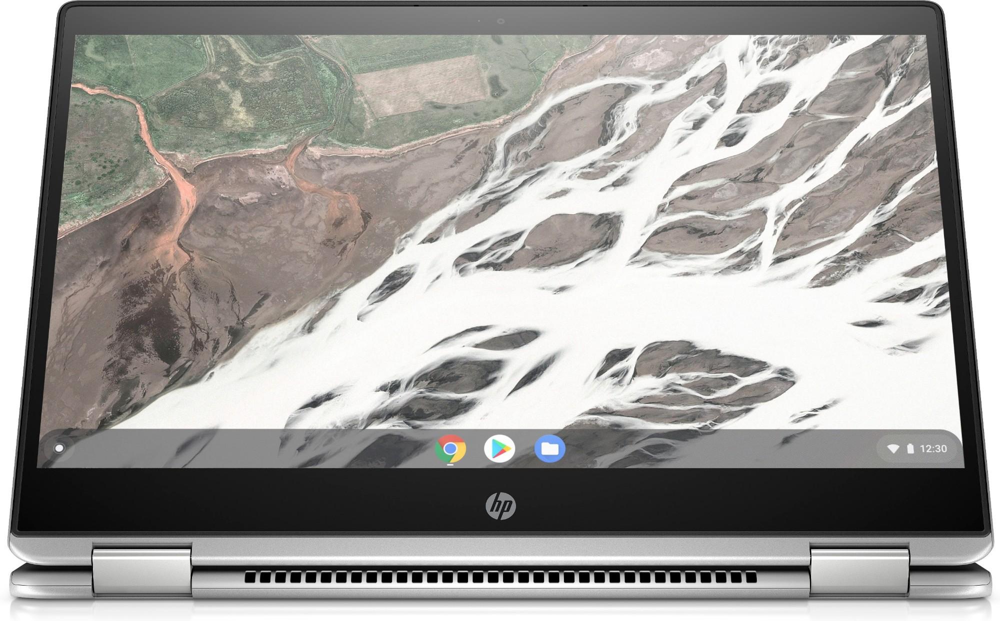 "HP Chromebook x360 14 G1 Silver 35.6 cm (14"") 1920 x 1080 pixels Touchscreen 8th gen Intel® Core™ i7 i7-8650U 16 GB DDR4-SDRAM 64 GB Flash"