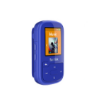 Sandisk SDMX28-016G-G46B MP3/MP4 player MP3 Spieler Blau 16 GB