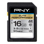 PNY Elite Performance 16GB memory card SDHC Class 10 UHS-I