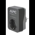 APC PME1WB-GR Überspannungsschutz 1 AC-Ausgänge 230 V Schwarz, Grau