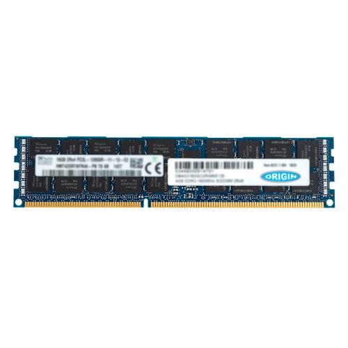 Origin Storage Origin 16GB 2Rx4 DDR3-1600 PC3L-12800R Registered ECC 1.35V 240-pin RDIMM