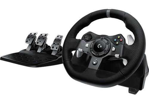Logitech G920 Steering wheel + Pedals Xbox One USB 2.0 Black