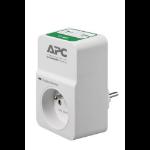 APC PM1WU2-FR Overspanningsbeveiliging 1 AC-uitgang(en) 230 V Wit