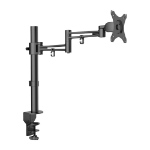 "Lindy 40965 30"" Clamp Black flat panel desk mount"