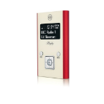 ViewQwest Blighty radio Portable Digital Red,White