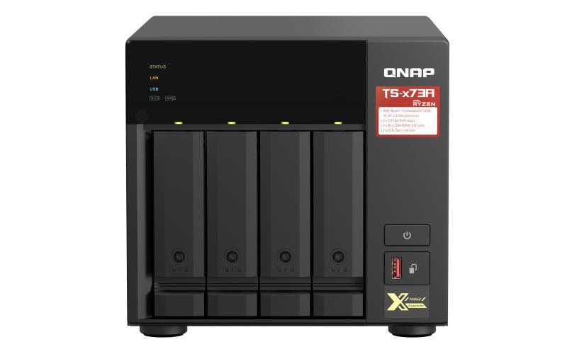 QNAP TS-473A NAS Tower Ethernet LAN Black V1500B