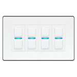 Lightwave L24WH dimmers Dimmer Mountable Black,White