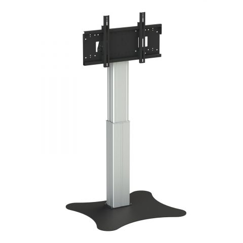 "Loxit 8426 flat panel floorstand 2.18 m (86"") Fixed flat panel floor stand Black,Silver"