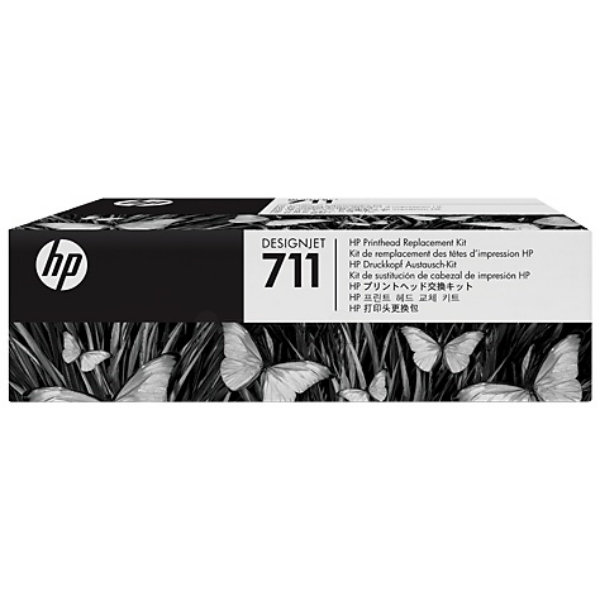HP C1Q10A (711) Printhead, 12ml, Pack qty 3